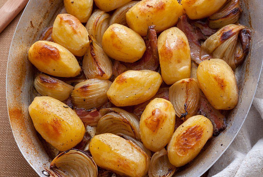 Batatas, cebolas e muito sabor!